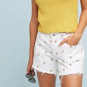 NWT Anthro Pilcro Starburst Embroidered Shorts 27